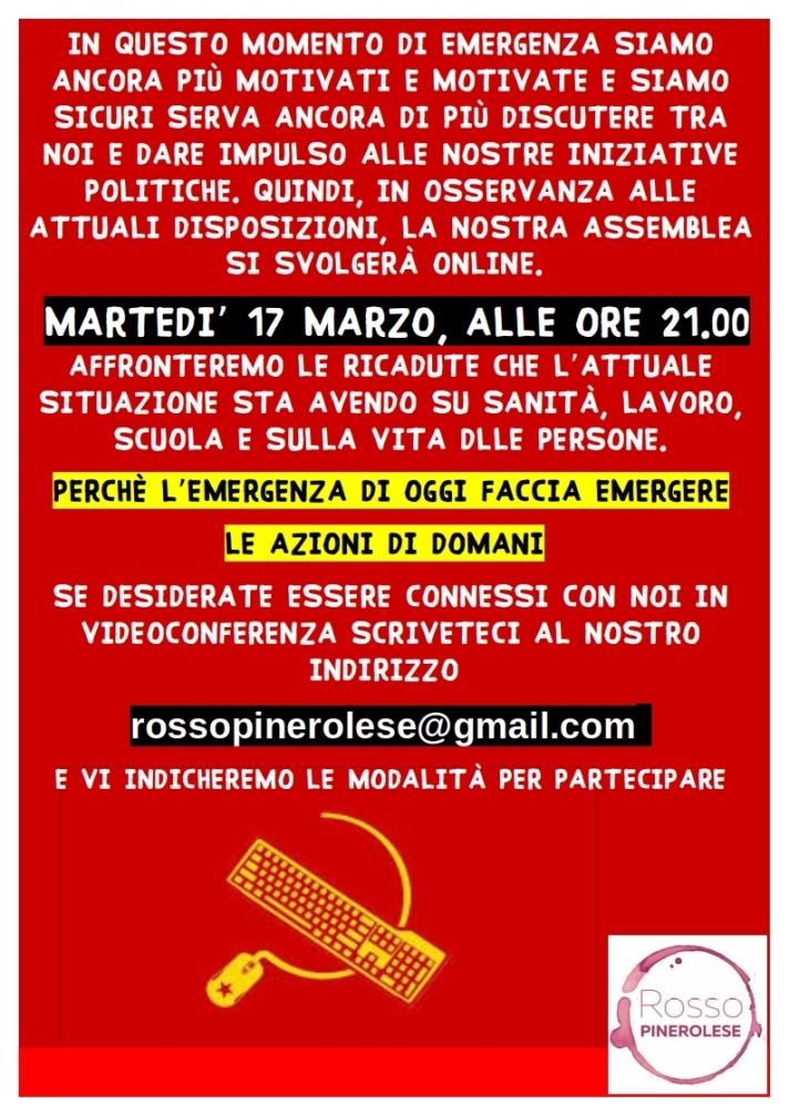 assemblea online 17 Marzo