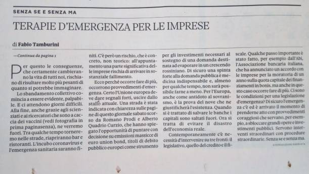 Sole24 Ore 10-03-2020 [Editoriale - 2-2]